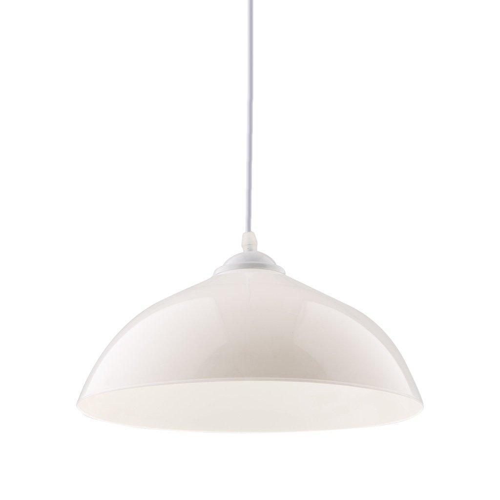 perfk Abat-jour Suspendu de Semi-Circulaire Lampe au Plafond Décoration pour Maison Hôtel Magasin - Blanc