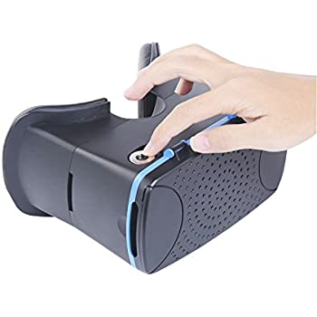 Google Cardboard VR by IHUAQI Private Molds and Patent Virtual Reality Headset Focal Length & IPD Adjustable built in Mannet Trigger