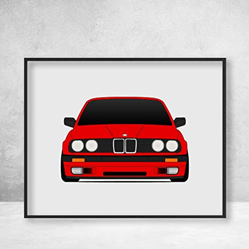 (BMW E30 3 Series Poster Print Wall Art Decor Handmade 316i 318is 320i 323i 325i 333i)