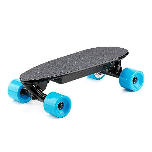- DUMI Portable Electric Skateboard with Remote Control, Ultra Lightweight Mini Electric Longboard 9.3mph 300W for Kids & Youth