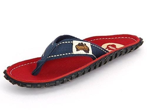 Spiaggia Sandali 36 Numero da UK Gumbies Islanders Calzature Rosso Adulto EU Infradito 12 xYTg6qAw