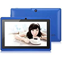 Egmy 7 Inch Touch Allwinner A33 Quad Core Android 4.4 KitKat Tablet PC, 8GB Multimedia, Dual Camera, G-sensor,WIFI, Multilingual,Multi-touch 1024 x 600 HD Screen(Blue)
