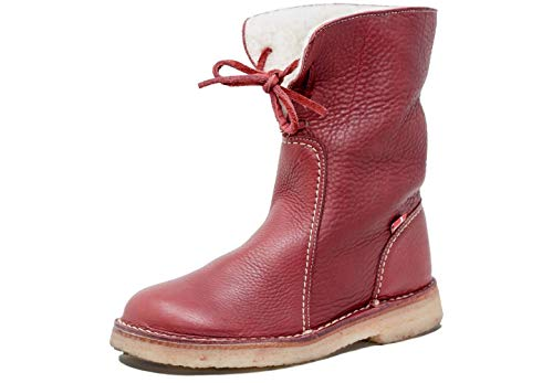 1ea325af0eb Duckfeet Arhus Wool-Lined Pebbled Leather Boot (Pebbled Granate