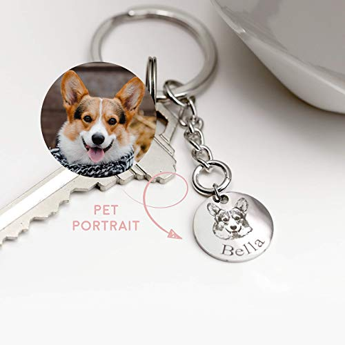 - Animal Keychain for Women Best friend Gift Pet Portrait Gift Dog and Cat Keychain Personalized Dog Keychain Pet Lover Gift Dog Mom - LCK-AP