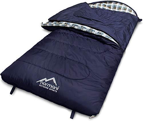 normani 4-in-1-Funktion Extrem Outdoor Schlafsack 'Antarctica' aus Nylon Rip-Stop mit 500 + 250 g/m² Hollow Fiber…