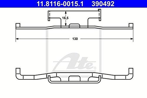 Bremssattel ATE 11.8116-0015.1 Feder