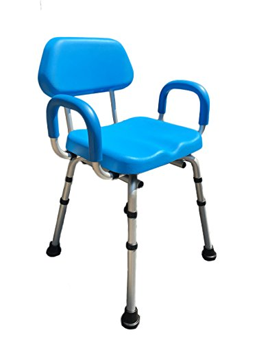 Deluxe Padded Bath - Shower Chair, Bath Chair, PADDED with Armrests, ComfortAble(tm) Deluxe Shower Chair. Institutional Quality.