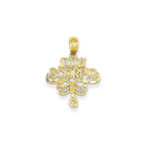JewelrySuperMart Collection 14k Yellow Gold 100% Scorpio Zodiac Pendant