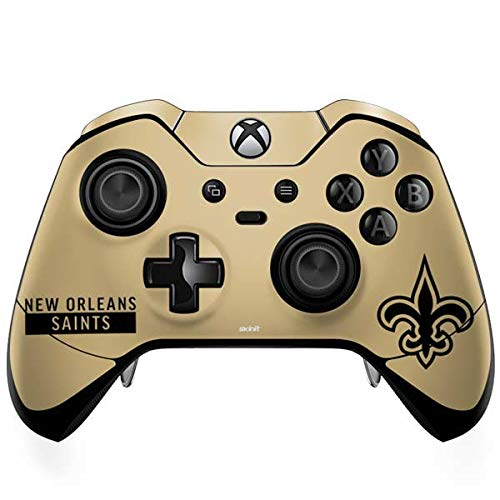 Saints Orleans Controller New (Skinit New Orleans Saints Gold Performance Series Xbox One Elite Controller Skin - Officially Licensed NFL Gaming Decal - Ultra Thin, Lightweight Vinyl Decal Protection)