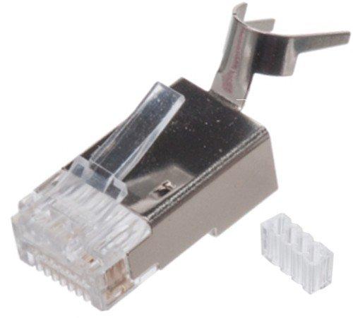 Cat6 and Cat6A Shielded RJ45 Connector Modular Plug -100 pcs -