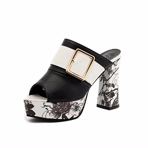 Astilleros De Alto Sandalias De Zapatos Like Taiwán Mujeres Alto GAOLIM Sandalias 8Cm Grandes Grueso Grueso Sandalias Ultra Femeninas Tacón Zapatos De De De O Tacón Verano Mujer Negro Mujer Impermeable De zngqvHX
