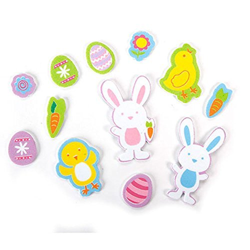 Foamies Easter 3-D Foam Stickers - Hopping Down the Bunny Trail - 256 pieces