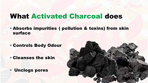 Just A Soap, Handmade Charcoal and Lime Soap with Goat Milk and Essential Oils. Sulphate free, 125 gms 2021 June Activated Charcoal and Lime soap with goat milk is an excellent deodoriser and antioxidant. The activated charcoal helps to neutralise and absorb impurities from pollution, toxins to cleanse the skin, unclog pores and remove deeper impurities and dead skin cells. Lime being a natural bleaching agent helps brighten shin, removes acne, dark spots and black heads. Exfoliating, Detox treatment, removes excess oil, sun burns and acts as a deodorising agent with goat milk for softening, moisturising, hydrating and skin renewal. Ingredients: Coconut oil, palm oil, safflower oil, glycerin (kosher, of vegetable origin), shea butter, purified water, oat protein (conditioner).