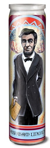 Abraham Lincoln Secular Saint Candle - 8.5 Inch Glass Prayer Votive -  The Unemployed Philosophers Guild, 3314