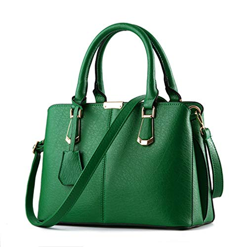 2018 New Fashion Bag Women Shoulder Messenger Bag Ladies Handbag Metal Tote Leather Bag,Green