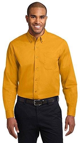 (Port Authority Long Sleeve Easy Care Shirt, Athletic Gold/Light Stone, XX-Large)