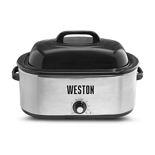 Weston 03-4100-W Roaster Oven, 22 Quart, Stainless Steel