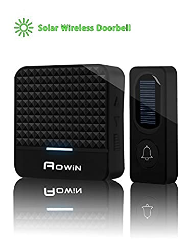 Solar Wireless Doorbell Kit With 2 LED Night Light, Rechargeable Waterproof Smart Doorbell With 1000ft Range, 52 Chimes, 4 Adjustable Volumes, Easy To - Jingle Bell Lights