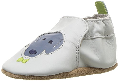(Robeez Boys' Soft Soles Crib Shoe, Dog Buddies - Grey, 18-24 Months M US Infant)