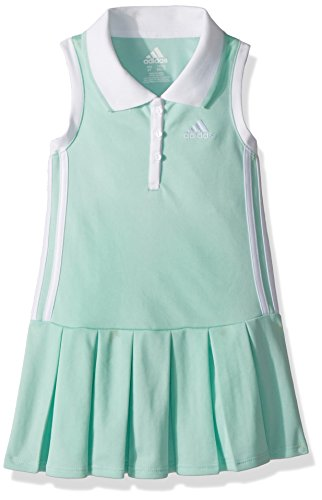 adidas Little Girls' Yrc Active Polo Dress, Ice Green, 4 - Adi Dress