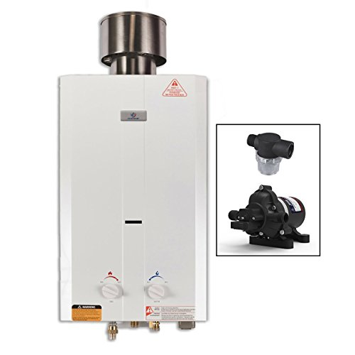 Eccotemp L10 Portable Tankless Water Heater with EccoFlo Pump and Strainer (Water Pumps Tankless Heater)