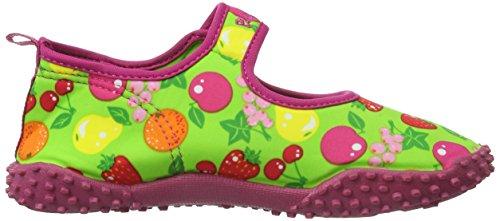 Playshoes Aquaschuhe, Badeschuhe Früchte mit höchstem UV-Schutz nach Standard 801 - Zapatillas De Agua de material sintético niña verde - Grün (original 900)