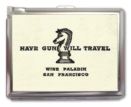 Have Gun Will Travel Cigarette Case Lighter or Wallet Business Card Holder by SiamHandCraft (Image #3)