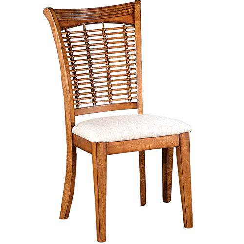 Hillsdale Bayberry Fabric Dining Chair in Oak Finish (Set of 2)