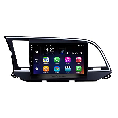 9 inch HD Touchscreen Android 8.1 Radio GPS Navi Head Unit Replace for Hyundai Elantra 2016 LHD Support USB WiFi Radio Bluetooth