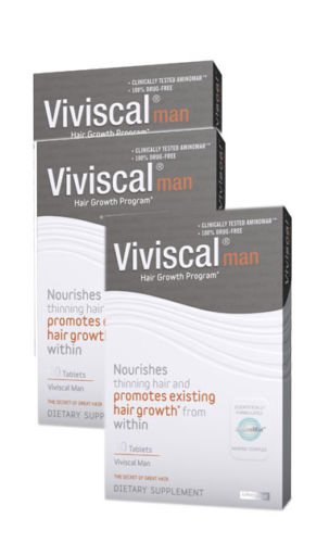 Hair Loss Vitamins for Men 3 Month Supply Viviscal Man Hair Nutrient Thick Hair About Hair by ABOUT HAIR (Image #1)
