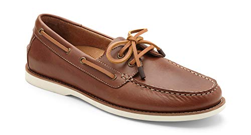 (Vionic Men's Spring Lloyd Boat Shoe - Slip-on with Concealed Orthotic Arch Support Brown 11.5 M US)