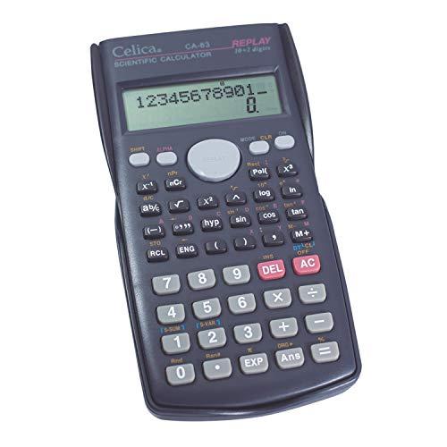 Celica CA-83/BK Científica de 240 Funciones, 24 Niveles de Paréntesis, Algebra y Pre-Algebra 10+2 Dígitos, color, Negro...