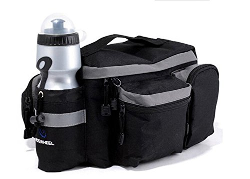 hebey Multi-Funktion Mountain Road MTB Fahrrad Sport wasserdicht 7L Gepäckträger, Trunk Bag Fahrrad-Zubehör Handtasche Schultertasche schwarz Paar