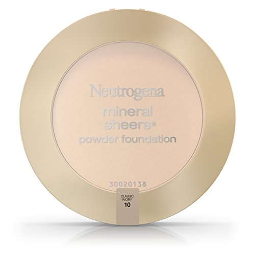 Neutrogena Mineral Sheers Compact Powder Foundation Spf 20, Classic Ivory 10, .34 Oz. (Pack of 2)