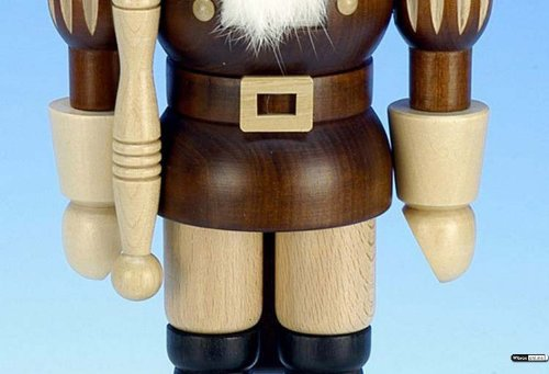German Christmas Nutcracker King natural colors - 38,5 cm / 15 inch - Christian Ulbricht by Authentic German Erzgebirge Handcraft