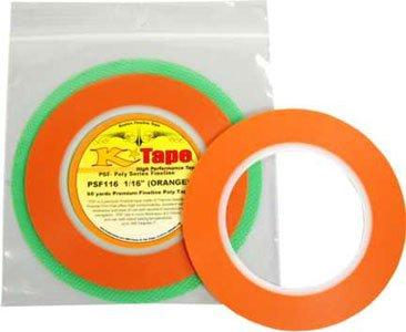 Fine Line Auto >> K Tape 1 16 X 60 Yd Orange Fine Line Masking Roll Auto