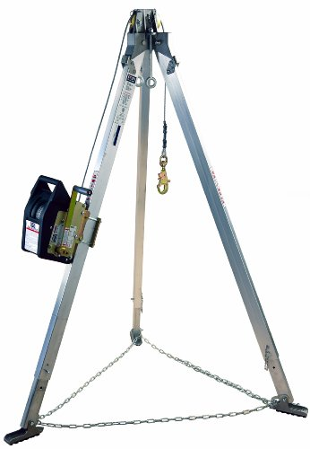 Rescue System Tripod - 3M DBI-SALA Advanced 8300041 Confined Space Kit 9' Aluminum Tripod and SalaLi' II Winch with 60' of 1/4
