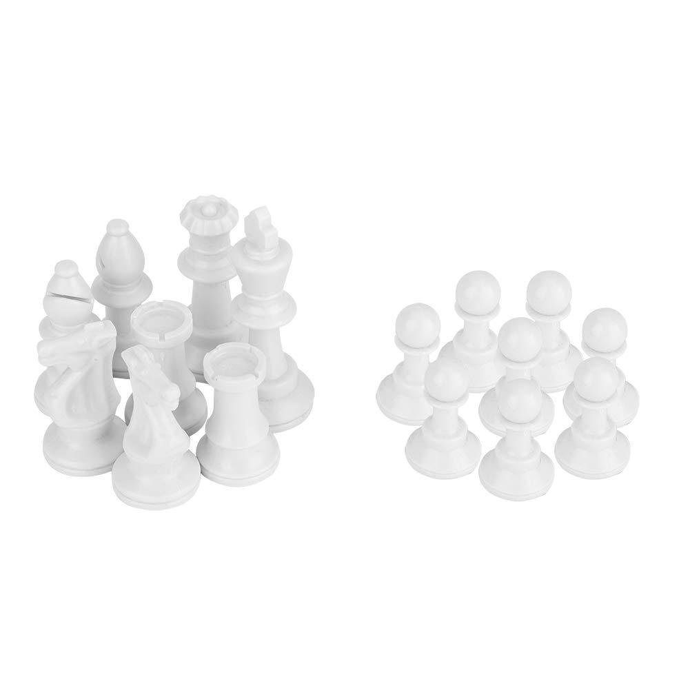 Portatile Plastica International Chess Medieval Entertainment Gioco da Tavolo Set Nero /& Bianca Set da Scacchi