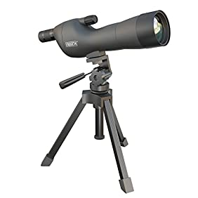 Emarth 20-60x60SE Straight Spotting Scope with Tripod, Optics Zoom 39-19m/1000m (Army Green)