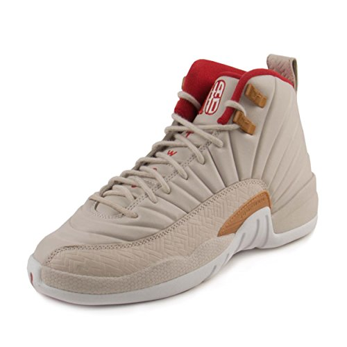 Nike Girls Air Jordan 12 Retro CNY GG Orewood Brown/Red Leather Size 6.5Y by NIKE