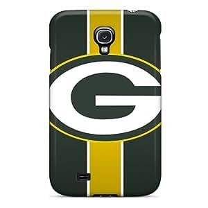 Galaxy S4 Green Bay Packers Print High Quality Tpu Gel Frame Case Cover