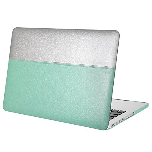 Mosiso Silky PU Leather Coated Plastic Hard Shell Case Cover