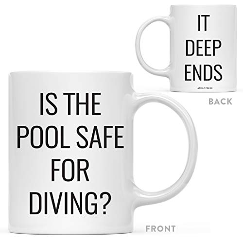 - Andaz Press 11oz. Dad Jokes Father's Day Coffee Mug Gift, is The Pool Safe for Diving? It deep Ends, 1-Pack, Birthday Christmas Gift for Dad