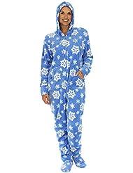 SleepytimePjs Women's Printed Fleece Onesie PJs Footed Pajama