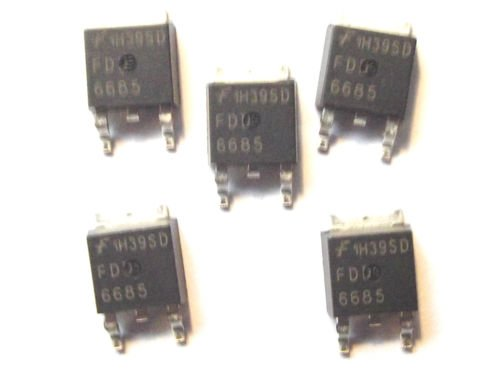 FDD6685 Fairchild P Channel Mosfet TO-252 SMD x5PCS