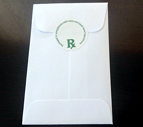 100 Concentrate Coin Envelopes (with Rx LABEL) 2.25
