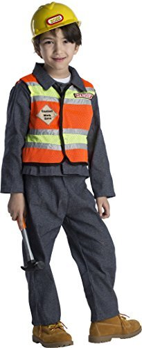 Dress Up America Kids Toddlers Construction Worker Costume -