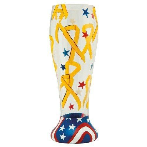 Lolita Gotta Love Beer Pilsner Glass, Yellow Ribbon by Santa Barbara Design Studio