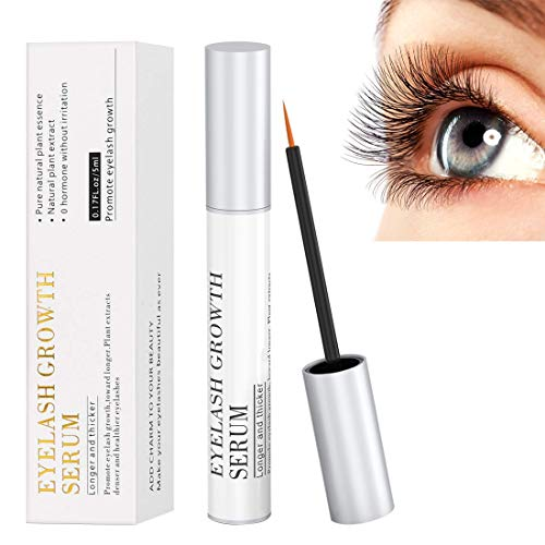 Eyelash Growth Serum, 100% Natural Eyebrow Lash Enhancer Boost Rapid Growth to Longer, Luscious Lashes & Eyebrows Hypoallergenic