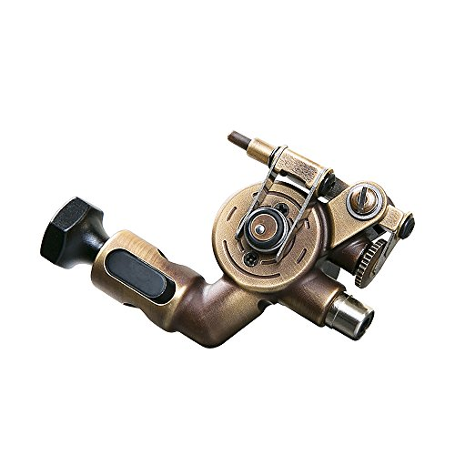 Dragonhawk Extreme X2 Rotary Tattoo Machine Brass Frame CNC Machine RCA Connected for Tattoo Artists